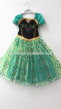 hot sale Frozen Princess Anna Girls Kids Dress Skirt Cosplay Costume 5-6years