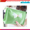 clear pvc cosmetic bag with bow