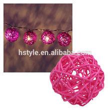 10 Pcs Led Rattan Ball Solar String Light HNL028