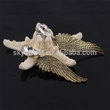 Angel wing with White diamond Ear cuff,vintage ear pug(SWTNSXR0010-3)