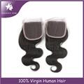 De alta calidad vagina artificial brasileño del cordón del pelo del pelo closure4*4 cordón de cierre
