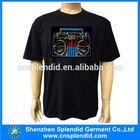 Display sound activated custom led t shirt el t-shirt