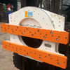 LH forklift attachment rolling over 360 degree hydraulic rotator