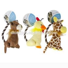 Stuffed Plush Animal Rope Handle Pet Toy