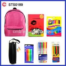 custom cartoon cute funny kids school bag set