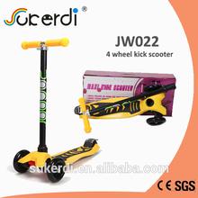 CE SGS certificated aluminum 4 wheel scooter mini kick scooter
