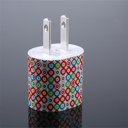 high speed 5v 1a leopard zebra dots printed power adapter super fast mobile phone charger for android cellphone iphone samsung