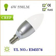 UL C35 led Candlelabra bulb 6W With 360-degree light direction