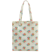 Flower Cotton Canvas Natural Tote Shopping Bag