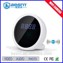 digital clock camera, home security battery supported, alarm clock hidden camera BS-W08A