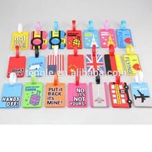 solft pvc luggage tags wholesale/ bulk pvc luggage tags