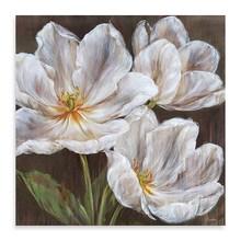 Handmade Wall Art Decor Canvas Flower Painting