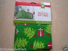 """Large GIFT 60""""x72"""" BIKE BAG Winter Party Holiday Christmas Decorations SNOWMAN"""