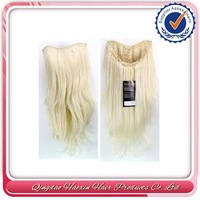 Large Stock Heat Resistant Modern Remy Hair Half Wig