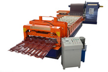 Latest Design glazed tiles colored steel metal roof and wall pan machine