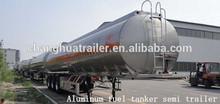 3 axle aluminum kerosene/coal oil tanker semi trailer