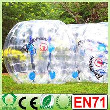 CE CN71 0.8mm/1.0mm PVC/TPU human sized soccer bubble ball