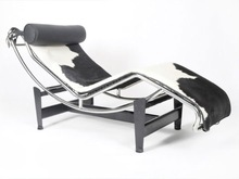 High quality leather le corbusier lc4 chaise lounge