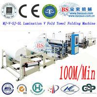 Interfold towel machine