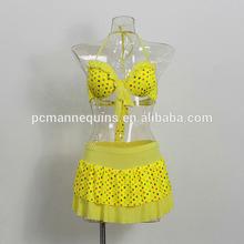 Transparent model girl half body cheap mannequin