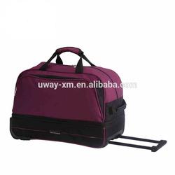 Waterproof nylon trolley luggage bag,carry-on luggage