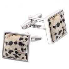 classical square semi-precious stone cufflinks
