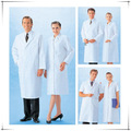 Alta qualidade casaco de médico lab-cl-04 branco macacao cvc uniforme cirúrgico