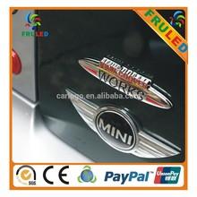 mini cooper logo car body sticker,abs chromed logo