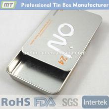 rectangular metal slide packaging tin /slide packaging box