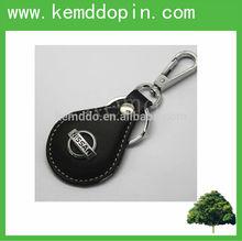 Custom handmade Nissan leather metal keychain