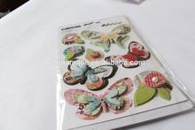 Fai da te caldo 2014ingrosso grafica design di alta qualità nuovi prodotti su misura a casa decorazione Stricker, 3d bambini adesivoin tessuto