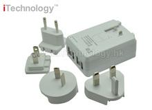 SAA cert. 22.5w 4 port US/UK/AU/EU Plug Home Wall Charger