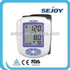 Portable Home Digital Wrist Blood Pressure Monitor, Heart Beat Meter Tester, Sphygmomanometer with LCD Display