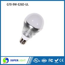 3000K4000K5000K6000K Dimmable A19 led light bulb with ul cul list