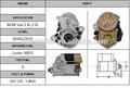 ไฟฟ้าเครื่องยนต์ดีเซลเริ่มต้นรถตู้โตโยต้า84-892.0l, 2.2028000-9380เริ่มต้น