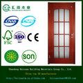 pittura con vetro solido legno e mdf struttura di legno della porta