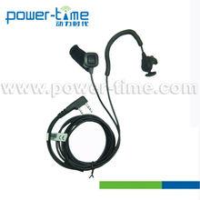 Half-open & closed helmet Ear Bone Mic headset in-ear for Securty guard / Policeman two way radios (PTE-540)