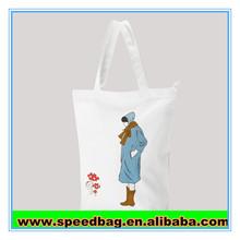 White shopping canvas handbag Eco Accept Custom Logo Organic Cotton Canvas Bag