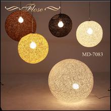 Flose MD-7083-1 Modern Rattan Pendant Lamp, Modern Moon Shape Pendant Lamp, Modern Decorative Pendant Lamp