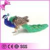 2014 Top Quality beautiful soft stuffed peacock plush toy