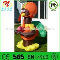 Gemmy inflatable decorative turkey lights up Thanksgiving