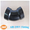 plumbing coupling 3 inch 45 degree long turn ell plastic tube fittings/thin wall pvc pipes