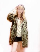 2014 New Dongguk door custom camouflage baseball leisure wild windbreaker women long jean coat 56