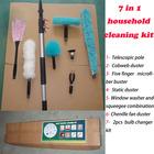 Cleaning product (Aluminum Telescopic pole , roof /ceiling /bathroom /conner brush ,window scraper bulb change )