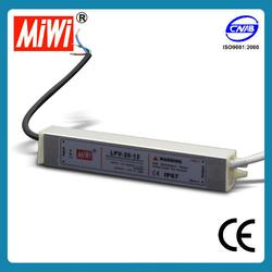 LPV-20-12 IP67 waterproof 12v slim led power supply