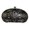 Flower Pattern Metal Woven Ladies Hand Bag