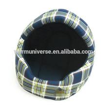 Memory Foam Cat Bed - Blue Tartan