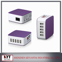 Mobile Phone Use and Electric,US Plug, EU Plug, UK Plug Type flat 35W 5 port usb wall charger