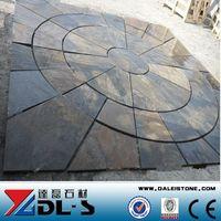 Slate paving stone circle