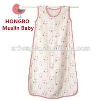 100% Cotton Muslin Baby Sleeping Bag/Baby Sleeping Sacks